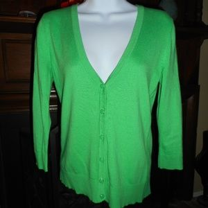 NWOT Kelley Green Knit cardigan, Small
